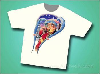 Tenchi muyo Gentle flakes T-shirt L