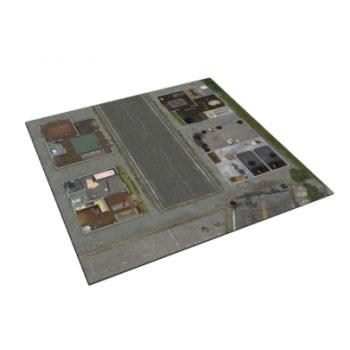 The Walking Dead Miniature Game - All Out War - Deluxe Gaming Mat - Woodbury