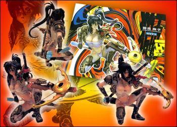 Masamune Shirow Blades Crossbow statue