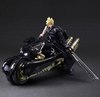 Final Fantasy VII Advent Children Play Arts Kai Action Figure - Cloud Strife & Fenrir 28 Cm
