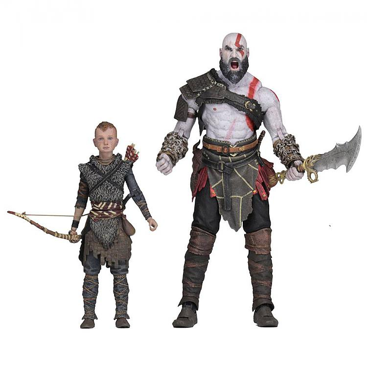 Buy Action Figure God Of War 2018 Ultimate Action Figure 2 Pack Kratos Atreus 13 18 Cm Archonia Com