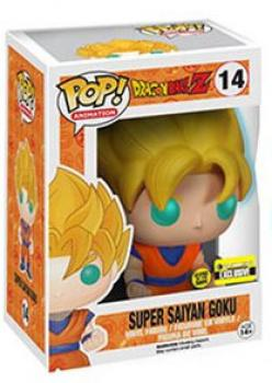 Dragon Ball Z POP Vinyl Figure - Glow-in the Dark Super Saiyan Goku EE Exclusive