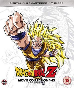 Dragon Ball Z Movie Complete Collection Movies 1-13 + TV Specials Blu-Ray UK