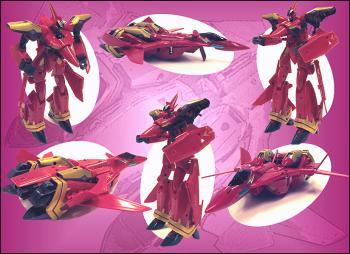 Macross Transformable Action figure VF-19 Custom Firevalkyrie