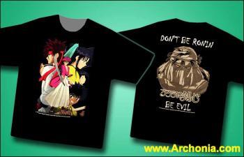 Samurai X Kenshin group T-shirt XL