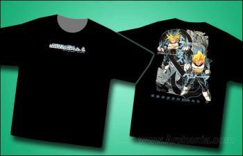 Dragonball Z T-Shirt Blue Flames Black XXL