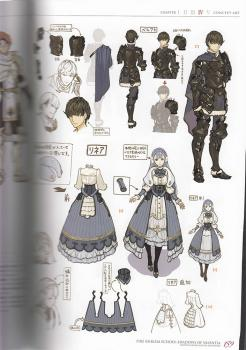 Fire Emblem Echoes: Shadows of Valentia Settei Shiryo Shu: Valentia Accordion Illustration Book