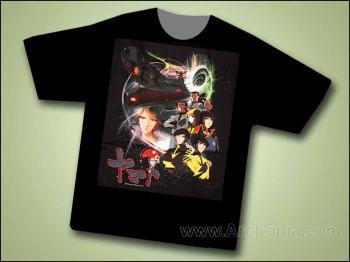 Space battleship Yamato space warp T-shirt XL