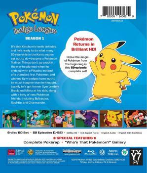 Pokemon Indigo League Season 01 Blu-Ray