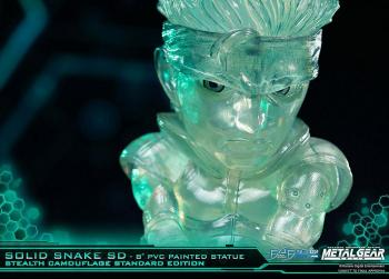 METAL GEAR SOLID PVC SD STATUE - SOLID SNAKE STEALTH CAMOUFLAGE VER.