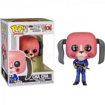 UMBRELLA ACADEMY POP VINYL FIGURE - CHA CHA WITH MASK