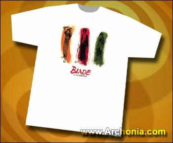 Blade of the immortal Anotsu Manji & Rin white T-shirt XL