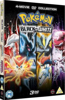 Pokemon Movie 14-16 Black & White  DVD UK