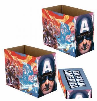 MARVEL CAPTAIN AMERICA PATRIOT SHORT COMIC STORAGE BOX (ONE BOX + LID)
