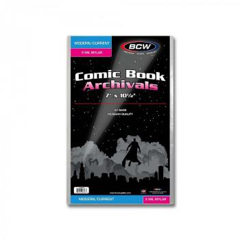 BCW Current / Modern Comic Mylar Archivals - 2 MIL (Pack of 50 Bags)