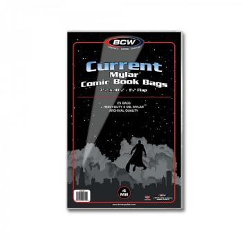 BCW Current / Modern Comic Mylar Archivals - 4 MIL (Pack of 25 Bags)