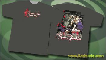 Rurouni Kenshin Blood slash T-shirt L