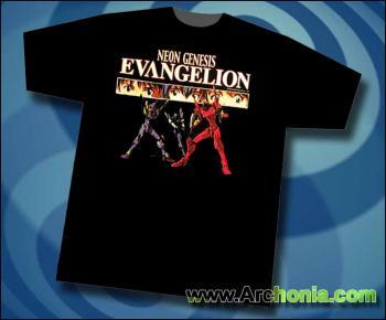 Neon genesis evangelion Eyes of EVA 01 Unit 00 Unit 02 T-shirt L