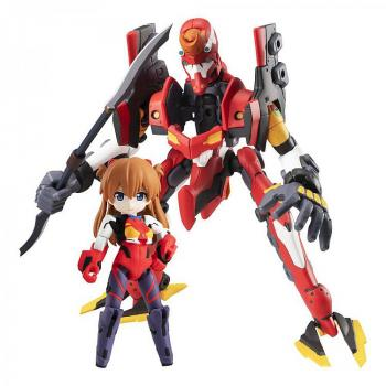 Evangelion Desktop Army Action Figures - Shikinami Asuka Langley & Evangelion 2