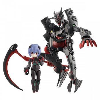 Evangelion Desktop Army Action Figures - Ayanami Rei & Adams Unit-01 Wave 02