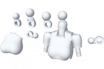 Megami Device M.S.G. Model Kit Accesoory Set 01 Tops Set White