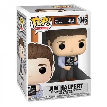 The Office Pop Vinyl Figure - Jim with Nonsense Sign