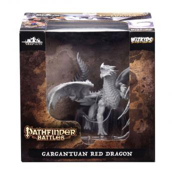 Pathfinder Battles Deep Cuts Unpainted Miniatures Gargantuan Red Dragon