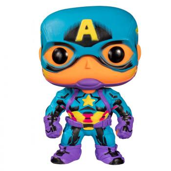Marvel Pop Vinyl Figure - Captain America (Black Light / Special Edition)