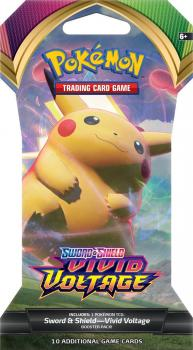 Pokemon TCG Sword & Shield Vivid Voltage Booster Pack Sleeved