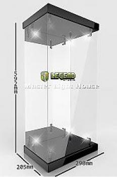 Master Light House Acrylic Display Case With Lighting for 1/4 Action Figures (Black)