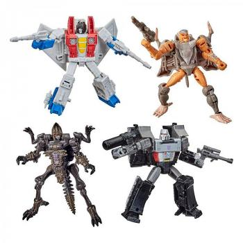 Transformers Generations War for Cybertron: Kingdom Action Figures - Core Class 2021 W2 Assortment (4)