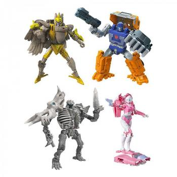 Transformers Generations War for Cybertron: Kingdom Action Figures - Deluxe 2021 W2 Assortment (4)