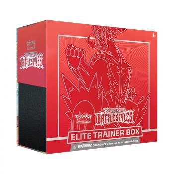 Pokemon TCG Sword & Shield 5 Battle Styles Elite Trainer Box - Red