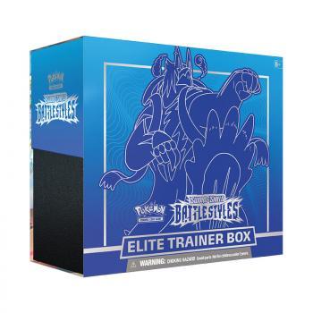 Pokemon TCG Sword & Shield 5 Battle Styles Elite Trainer Box - Blue