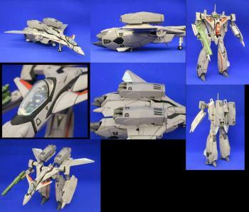 Macross Transformable Action Figure Die Cast VF-11B Fastpack version