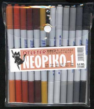 Neopiko Technical set 02 Brown & Grey set 12 colors