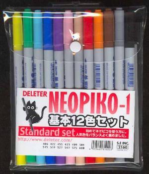 Neopiko Technical set 00 Basic color set 12 colors