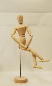 Deleter wooden manikin - female 32 cm
