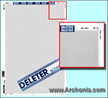 Deleter screen SE-012