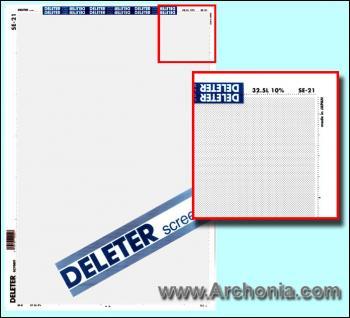 Deleter screen SE-021