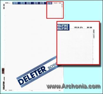 Deleter screen SE-030