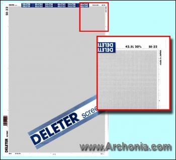 Deleter screen SE-032