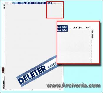 Deleter screen SE-041