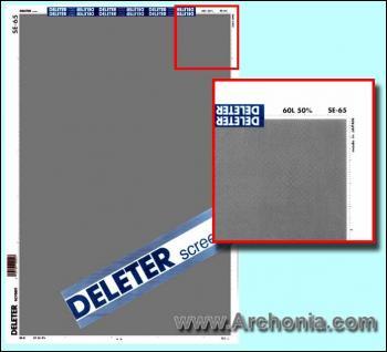 Deleter screen SE-065