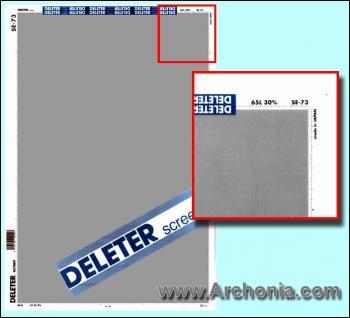 Deleter screen SE-073