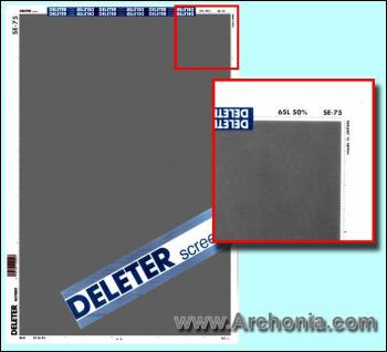 Deleter screen SE-075