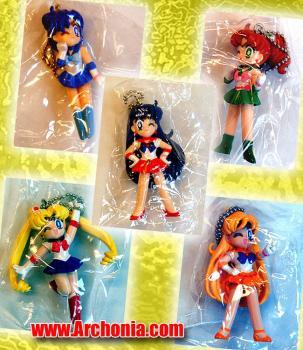 Sailor Moon Sailor swing capsule toy Set of 5