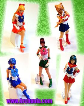 HG Series Sailor Moon Live Capsule toy Set of 5
