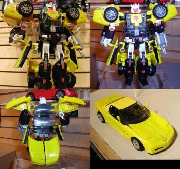 Transformers BT-06 Tracks Corvette Diecast figure