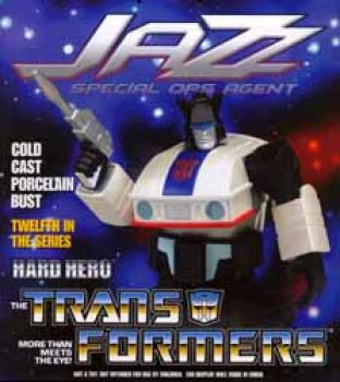 Transformers Jazz bust